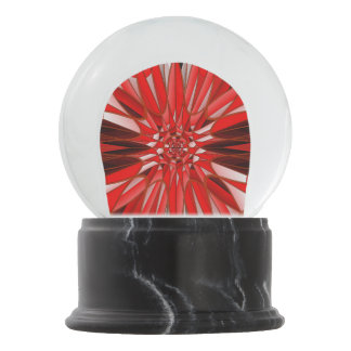 Red mineral snow globes