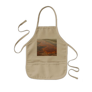 Red Mineral Water Yellowstone Park Kids Apron