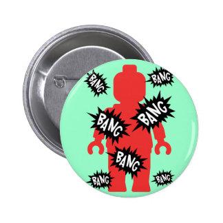 Red Minifig BANG BANG BANG Buttons