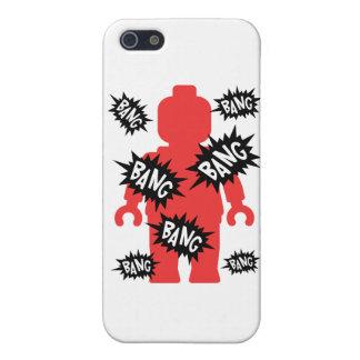 Red Minifig BANG BANG BANG Covers For iPhone 5