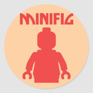 RED MINIFIG by Customize My Minifig Stickers