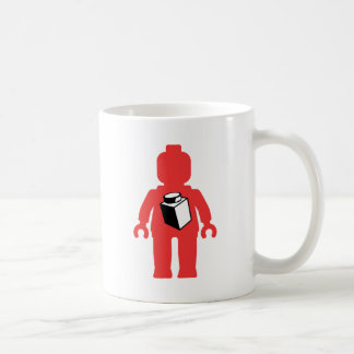 Red Minifig with 1 x 1 Brick Logo Mugs
