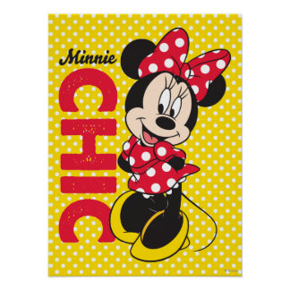 Red Minnie   Chic Poster