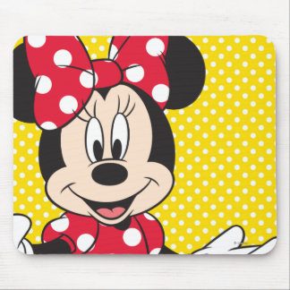 Red Minnie | Cute Closeup Mouse Pad