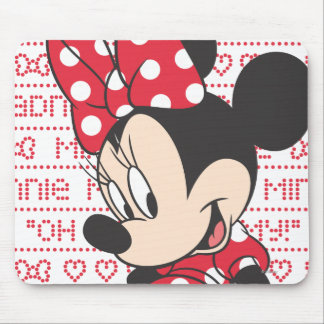 Red Minnie   Cute Mouse Pad
