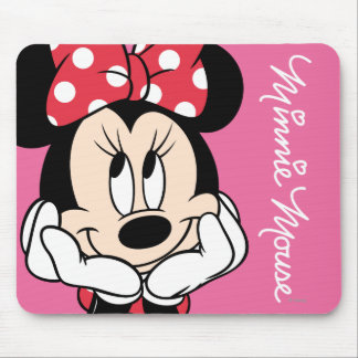 Red Minnie   Head in Hands Mouse Pad