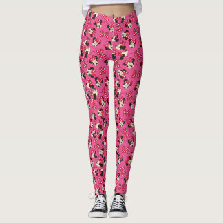 Red Minnie | Pink Pattern Leggings