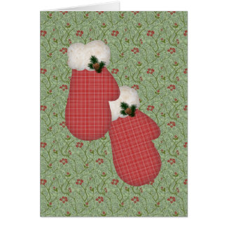 Red Mittens Christmas Card