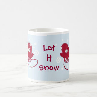 Red Mittens - Let it Snow Coffee Mug