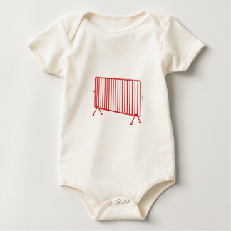 Red mobile fence baby bodysuit