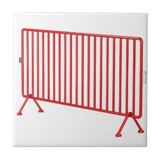 Red mobile fence ceramic tile
