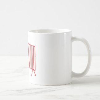 Red mobile fence coffee mug