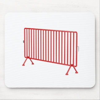 Red mobile fence mouse pad