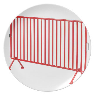 Red mobile fence plate