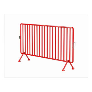 Red mobile fence postcard