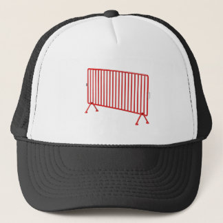 Red mobile fence trucker hat