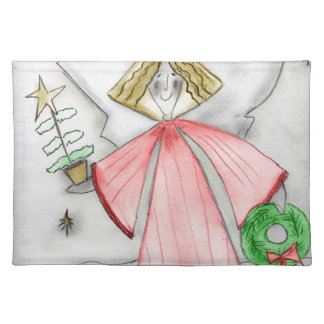 Red Mod Angel Placemat