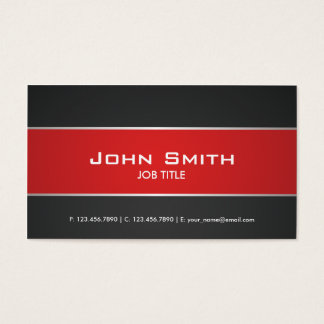 Red Modern Elegant Professional Classy Business Card