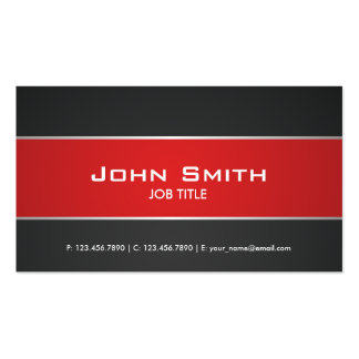 Red Modern Elegant Professional Classy Pack Of Standard Business Cards