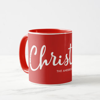 RED | Modern Merry Christmas Mug