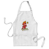 Red Moehog and Buzz aprons