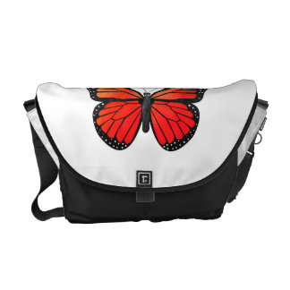 Red Monarch Butterfly Commuter Bags