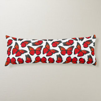 Red Monarch Butterfly Pattern Body Cushion