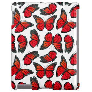 Red Monarch Butterfly Pattern