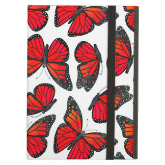 Red Monarch Butterfly Pattern iPad Air Case