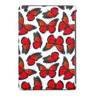 Red Monarch Butterfly Pattern iPad Mini Case