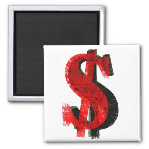Red Money Fridge Magnet
