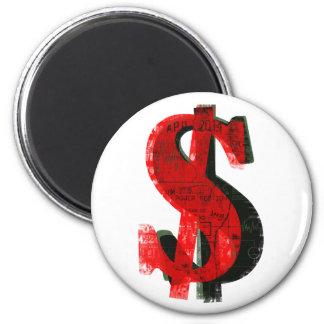 Red Money Fridge Magnets