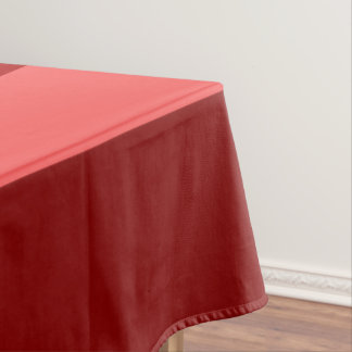 Red Monochrome Color Block Stripes Pattern Tablecloth