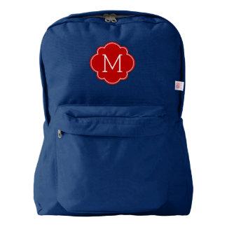 Red Monogram Backpack