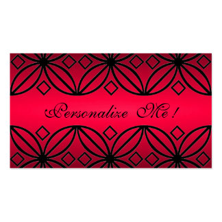 Red Monogram Elegant Initial Modern Floral Stylish Pack Of Standard Business Cards