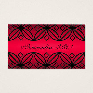 Red Monogram Stylish Elegant Initial Modern Floral