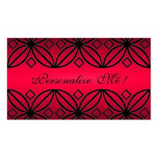 Red Monogram Stylish Elegant Initial Modern Floral Pack Of Standard Business Cards