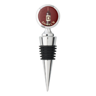 Red | Monogram Wine Stopper