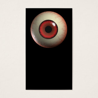 Red Monster Eyeball Business Card
