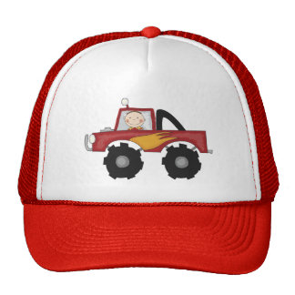 Red Monster Truck Tshirts and Gifts Cap
