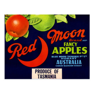 Red Moon Apples Post Card