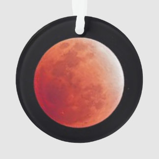 Red Moon - Custom Circle Ornament