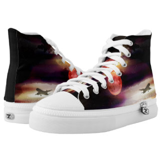 Red moon high tops