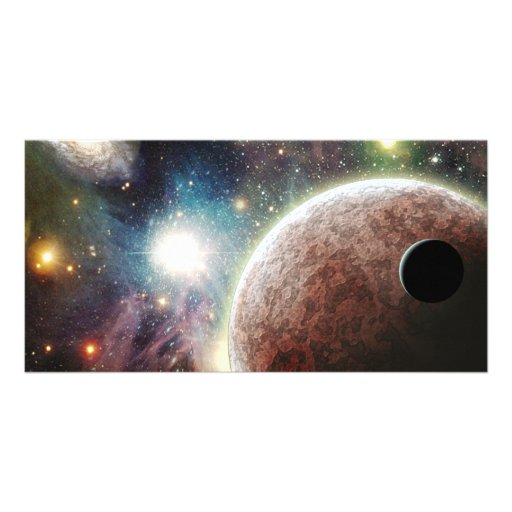 Red Moon Picture Card