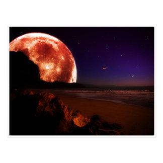 Red Moon Postcard