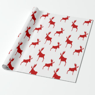 Red Moose Wrapping Paper