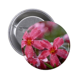Red Morning dew flowers Buttons