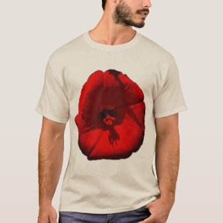 Red Morning Glory Flower T-Shirt