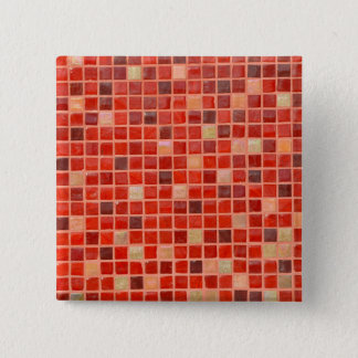 Red Mosaic Tile Background 15 Cm Square Badge