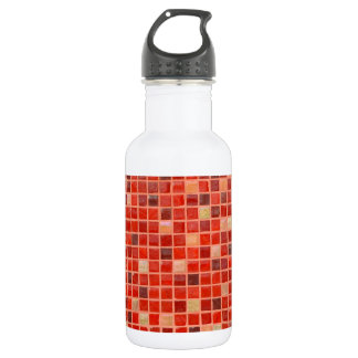 Red Mosaic Tile Background 532 Ml Water Bottle